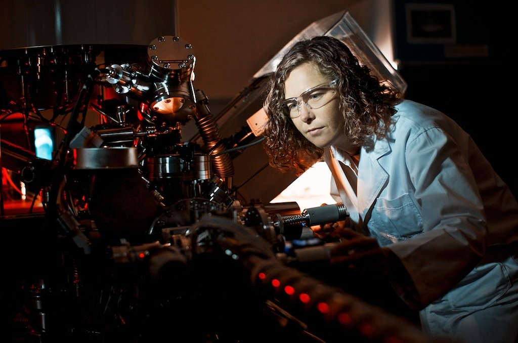 CRC for Polymers researcher, Dr Katie Styan (CSIRO) at work